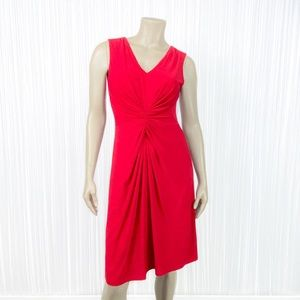 DAVID MEISTER Sleeveless Red Dress 6